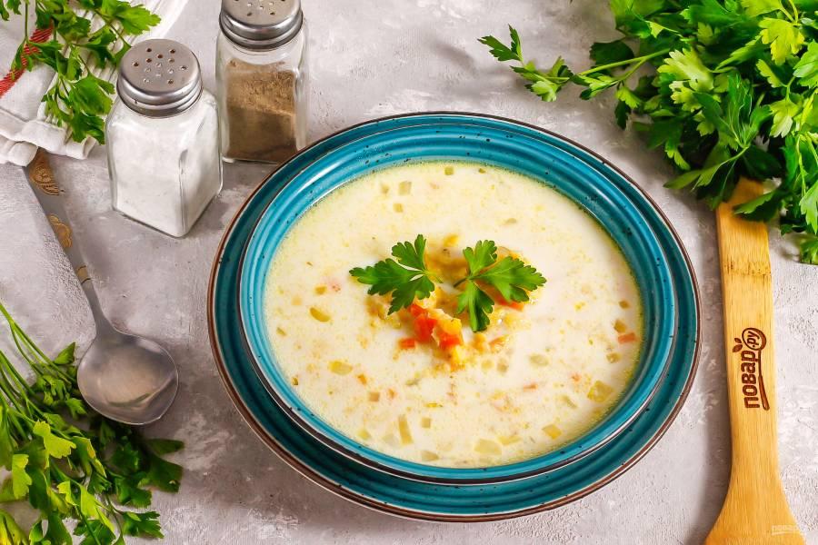 Суп из чечевицы с молоком