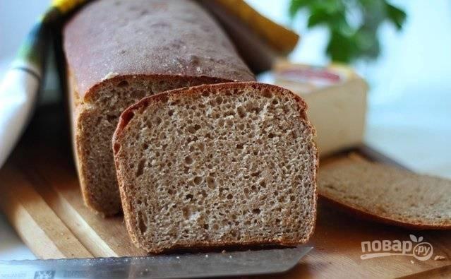 Ржаной хлеб на закваске в духовке