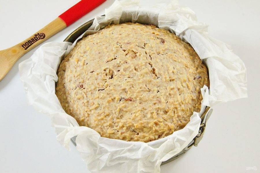 Выпекайте пирог при 150 градусов 1 час 20 минут.