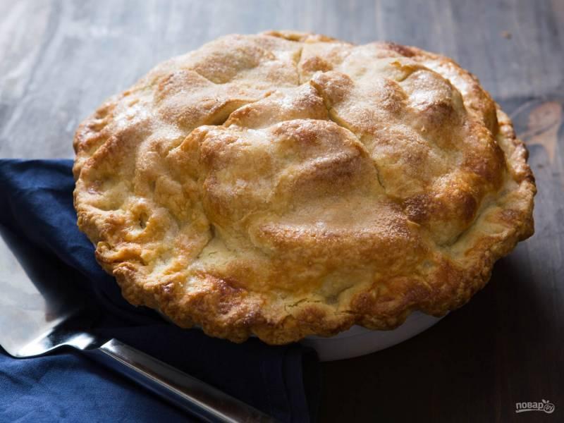 Пирог с ароматными яблоками