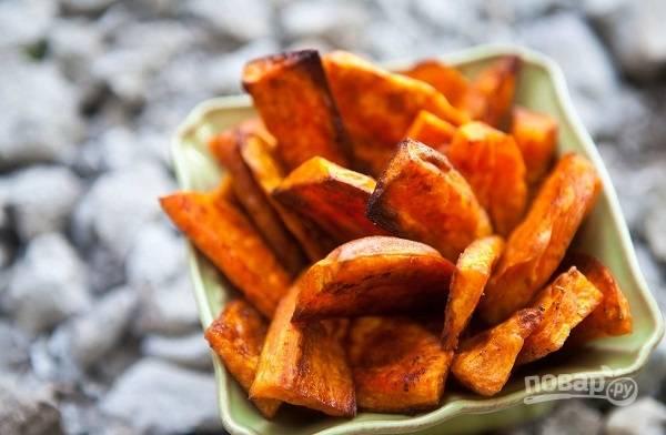 Запеченный сладкий картофель