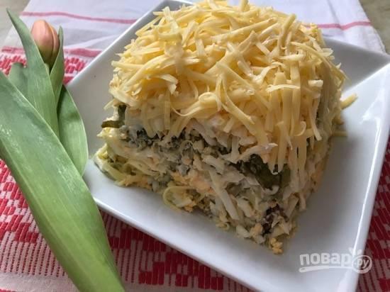 8. Салат готов! Можно дать салату настояться или пробовать сразу же. Приятного аппетита!