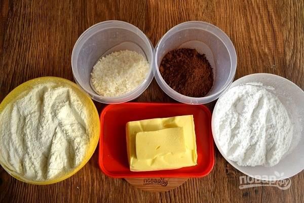 Подготовьте все необходимые продукты.