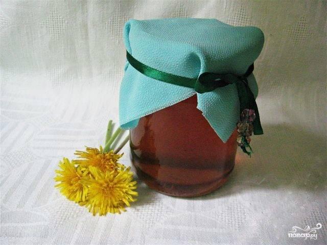 Варенье из одуванчиков с цветками