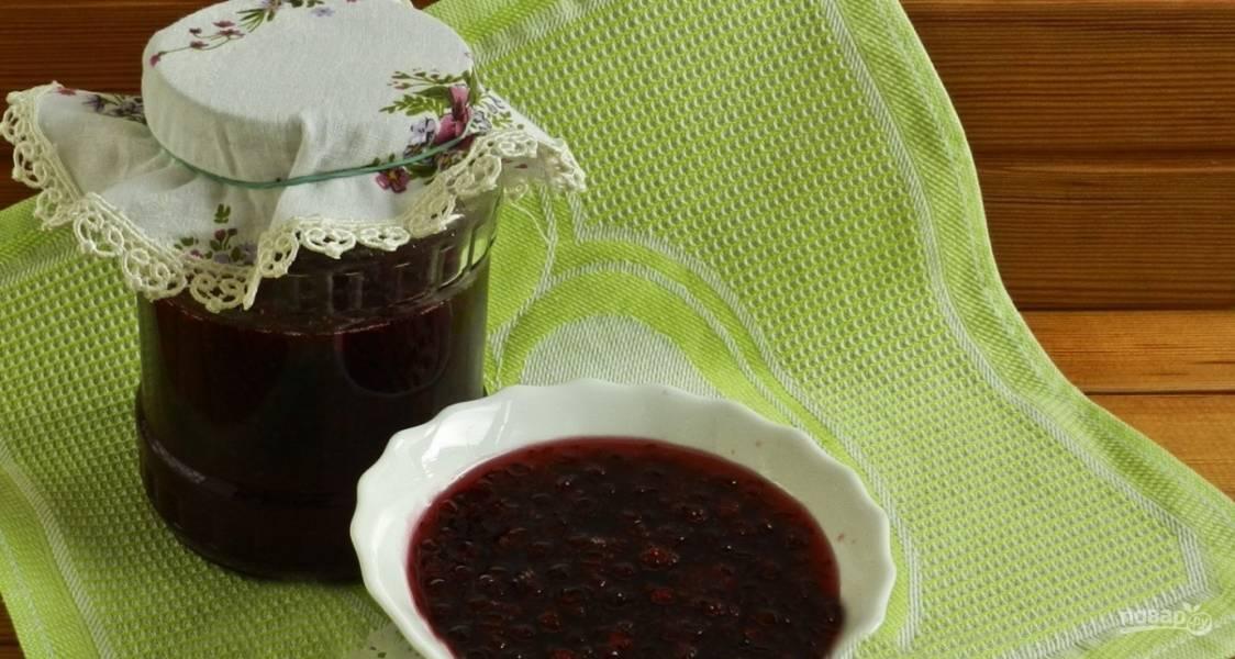 Красная смородина с сахаром (варенье)