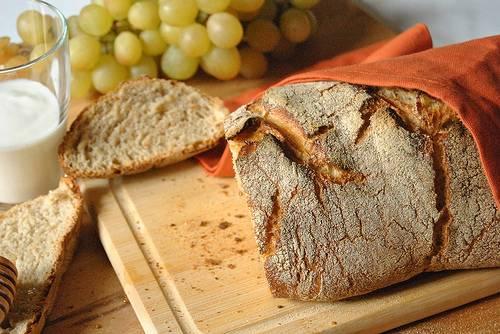 7. Через 15 минут снимите фольгу или крышкой и запекайте еще 15-20 минут. Если вы хотите корочку на хлебе, то, выключив духовку, выложите буханку прямо на решетку и оставьте там еще на 15 минут. Остудите и подавайте. Приятного аппетита!