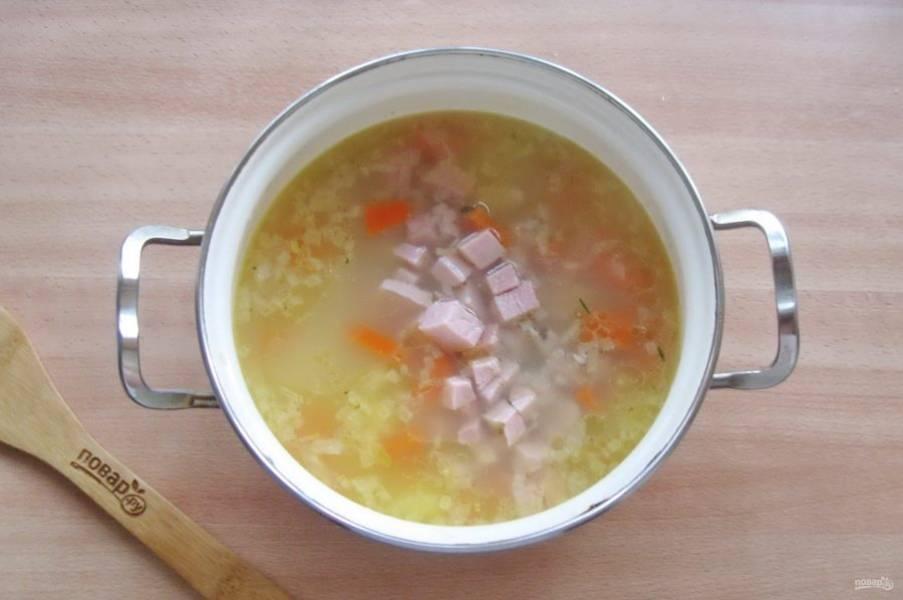 Выложите буженину в суп.