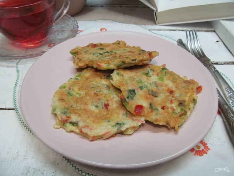 Закусочные крабовые оладьи