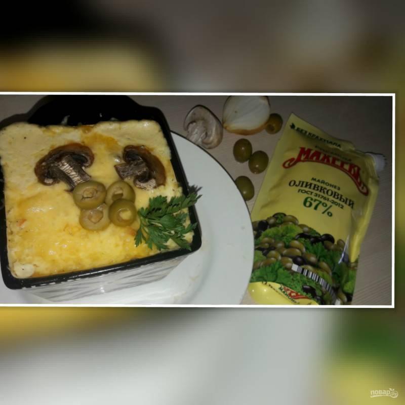"""Лучший рецепт """"А-ля жульена"""" с лососем и майонезом"""