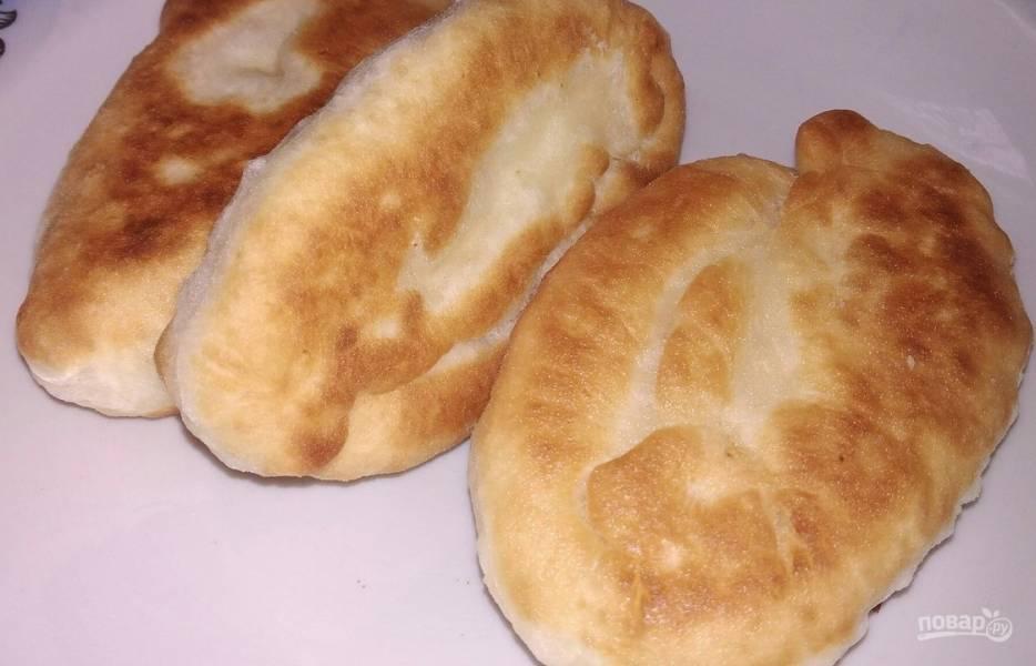 Пирожки на кефире (с картошкой и печенью)