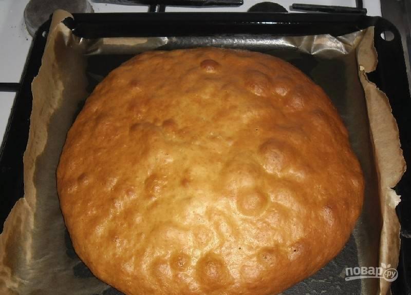 Запекайте бисквит в духовке при 190 градусах в течение 25 минут.