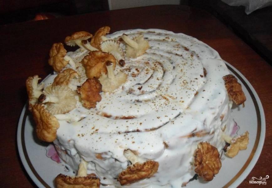Торт с курагой