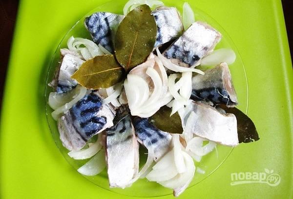 5. Залейте рассолом, установите сверху небольшой груз и уберите в холодильник на 2-3 дня.  Перед подачей рыбку можно полить растительным маслом, уксусом или дополнить зеленью. Приятного аппетита!