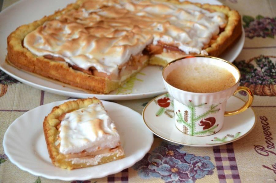 Пирог получился вкусный и очень нежный, просто наслаждение!
