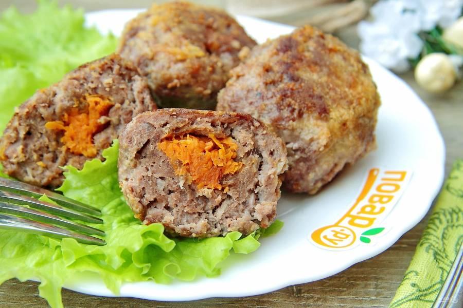 Зразы мясные с морковью