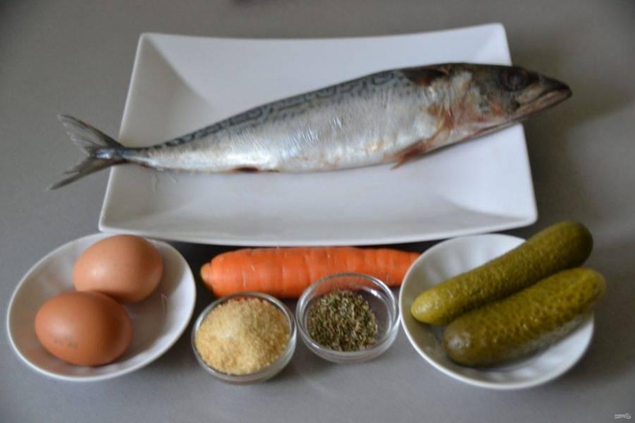 Подготовьте все ингредиенты, яйца лучше заранее отварить.
