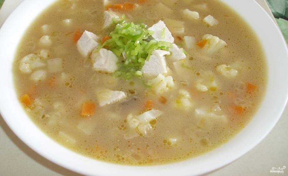 Cырный суп со свининой