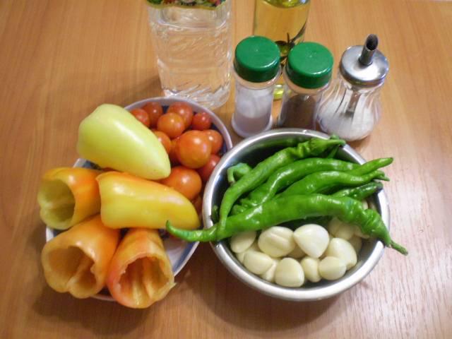 Все овощи следует вымыть и подготовить.