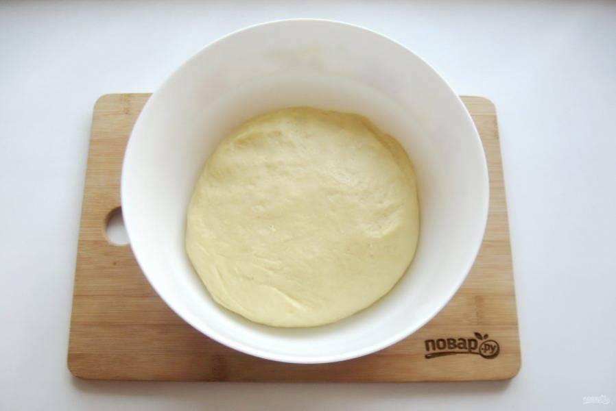 Тесто округлите и выложите в миску.