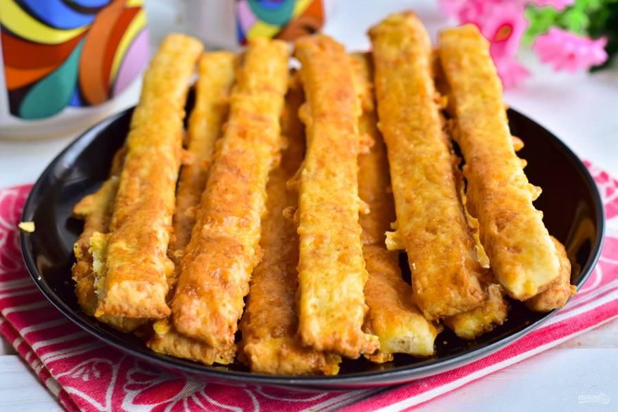 Творожно-сырные палочки