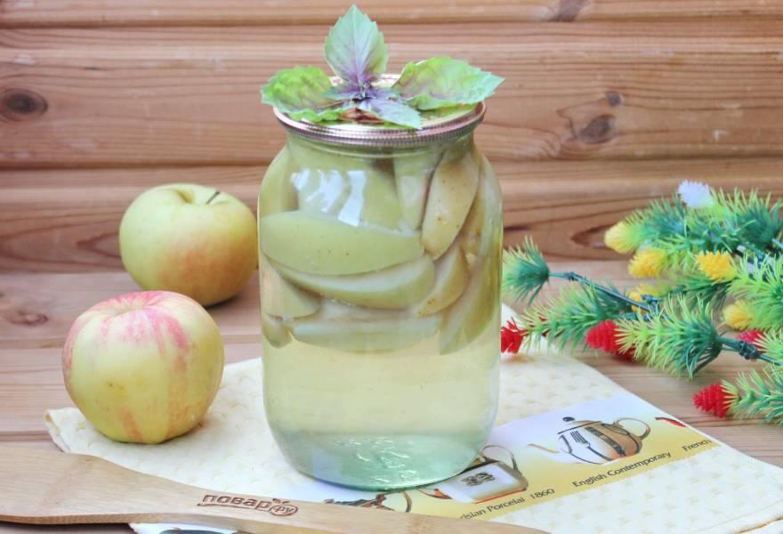 Компот из яблок с лимонной кислотой на зиму