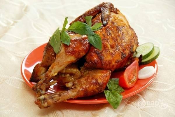Рецепт запекания курицы в рукаве