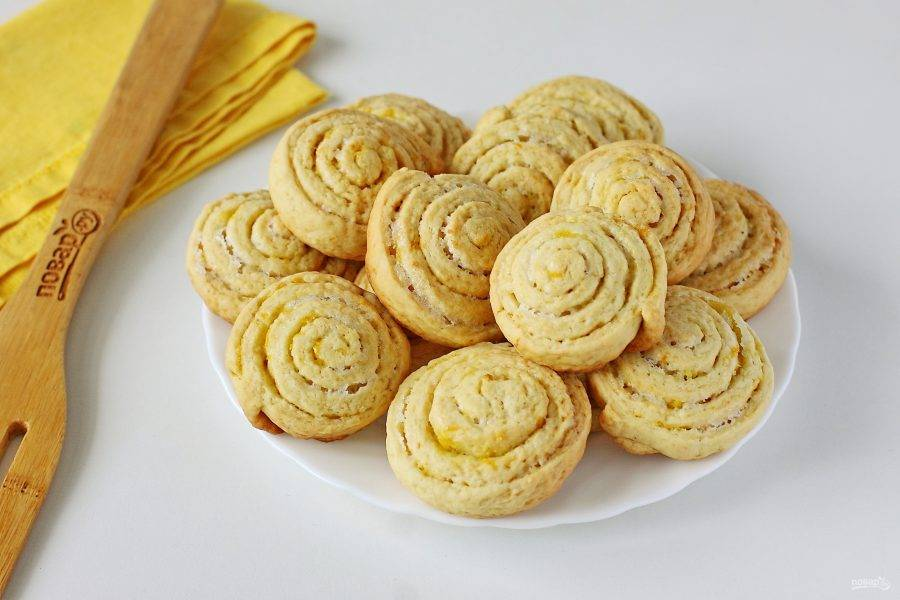 Лимонное печенье на кефире готово.