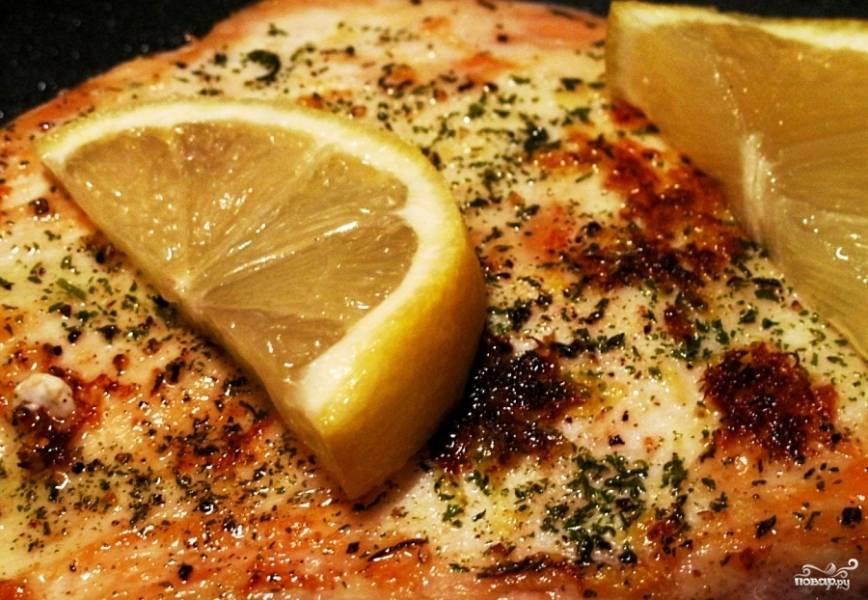 Куриное филе с лимоном и чесноком