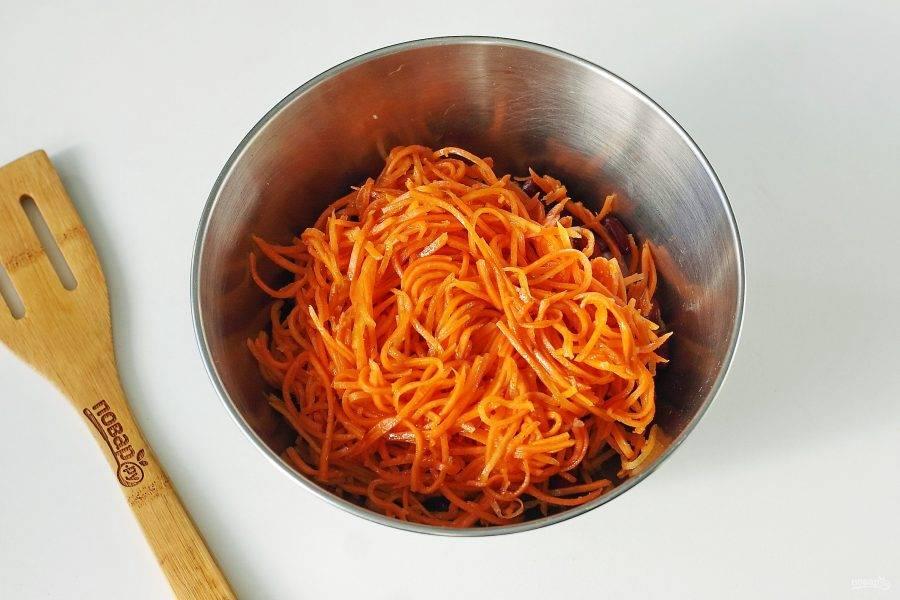 Добавьте сюда же морковь по-корейски.