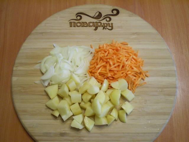 5. Сразу же готовлю остальные овощи. Все вымыть, порезать.