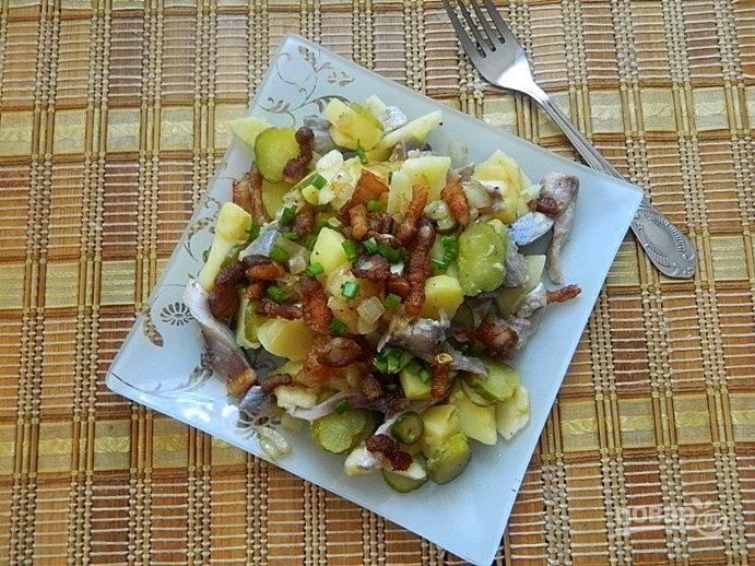 Салат с сельдью по-цёблицки