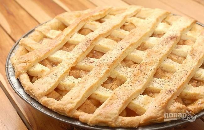 Яблочный пирог готов! Приятного аппетита!
