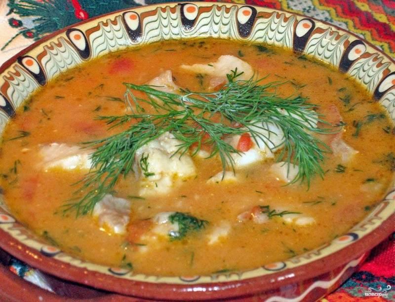 Суп из морского окуня