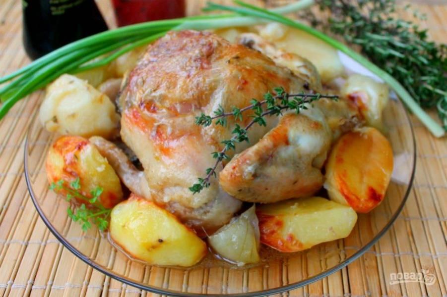 Цыпленок готов. Подаем горячим, приятного аппетита!