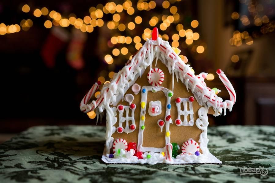 Как сделать имбирный домик к Новому году (пошаговая инструкция)
