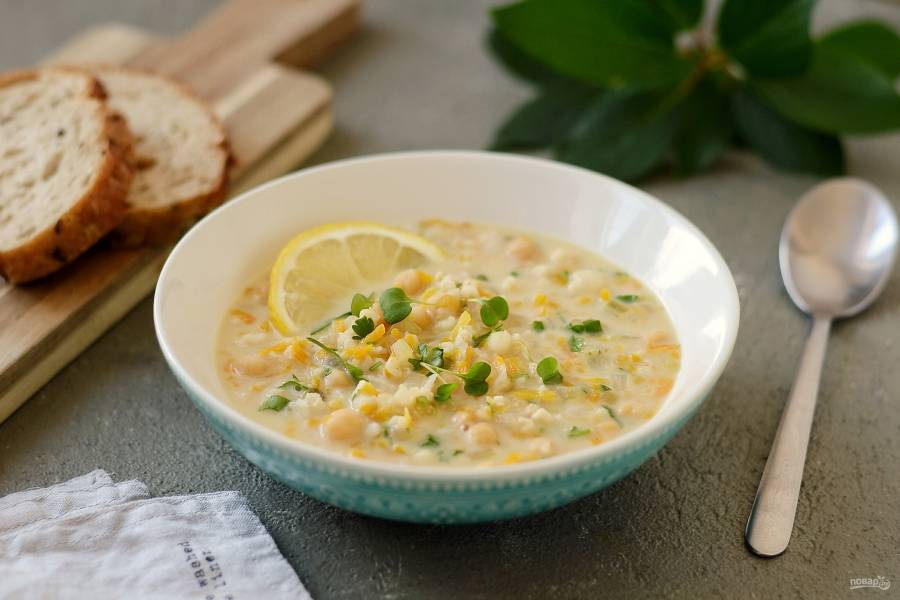 Лимонный суп с рисом