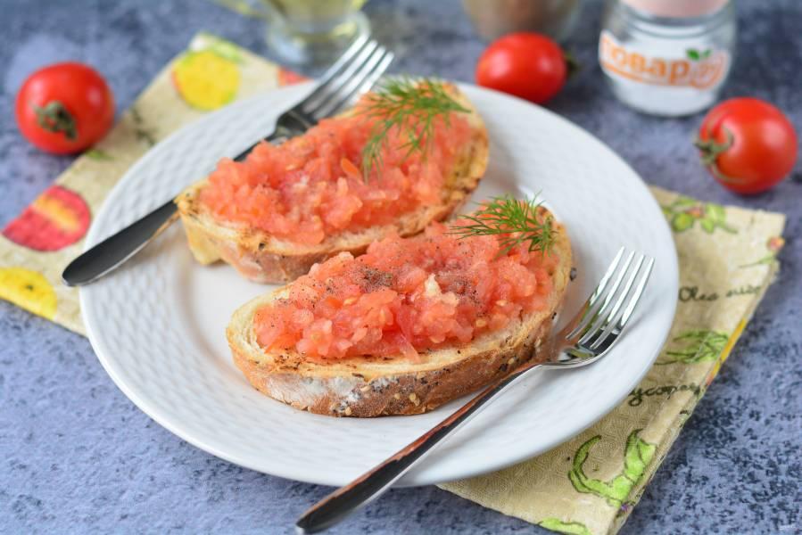 Испанские бутерброды с помидорами