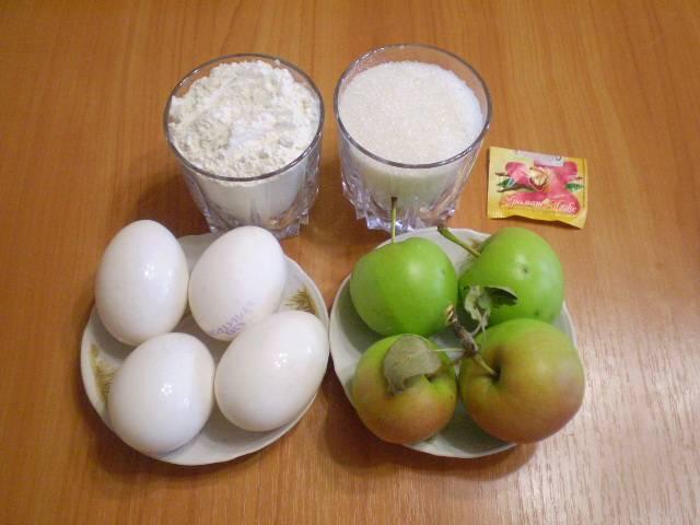Приготовим продукты. Выбирайте яблоки сочные, спелые, кисло-сладкие.