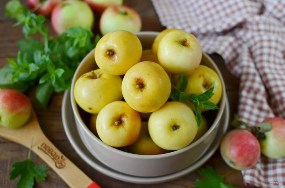 Через 40 дней яблоки можно подавать к столу.