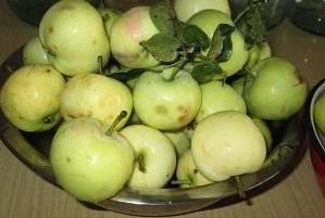 Подготовьте яблоки. Тщательно их промойте.
