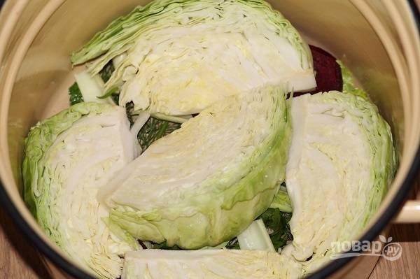 7. Еще слой капусты.