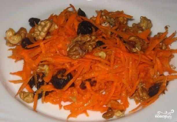 Морковь, тушенная с черносливом