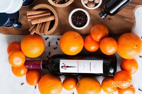 2. Хорошее вино и апельсины — также незаменимые ингредиенты.