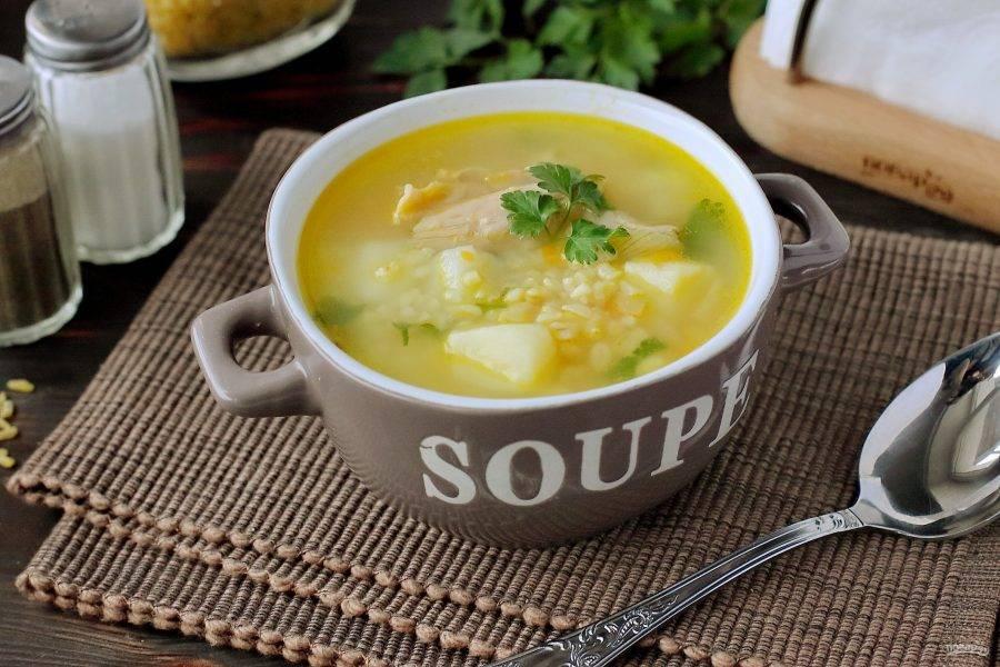 Суп получается вкусным, полезным и питательным. А еще булгур благоприятно действует на желудок и кишечник. Приятного аппетита!