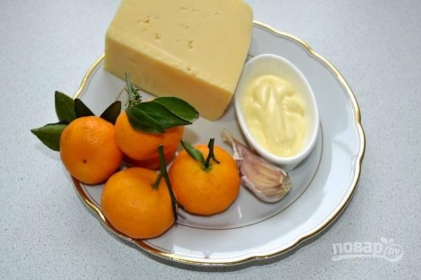 1. Ингредиенты, которые мы будем использовать для нашего быстрого и вкусного салатика.