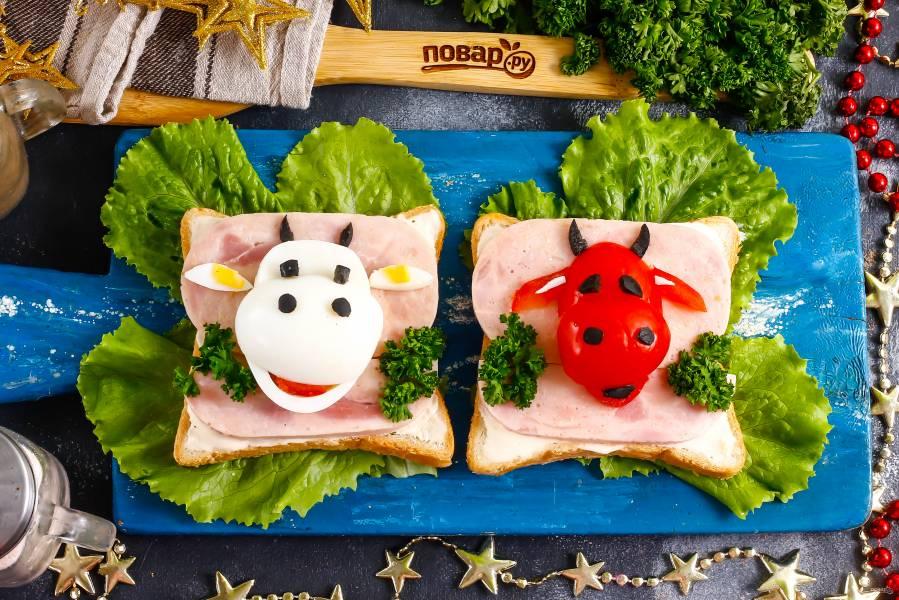 """Бутерброды """"Озорные Бычки"""""""
