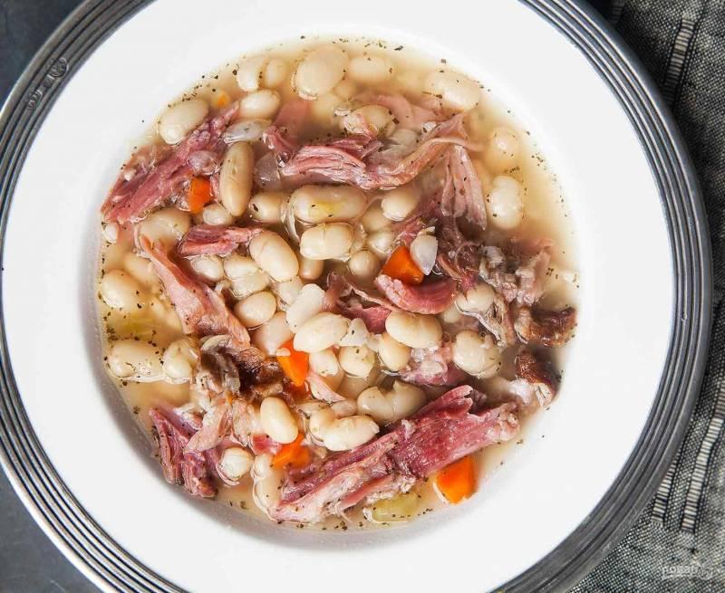 Фасолевый суп из белой фасоли