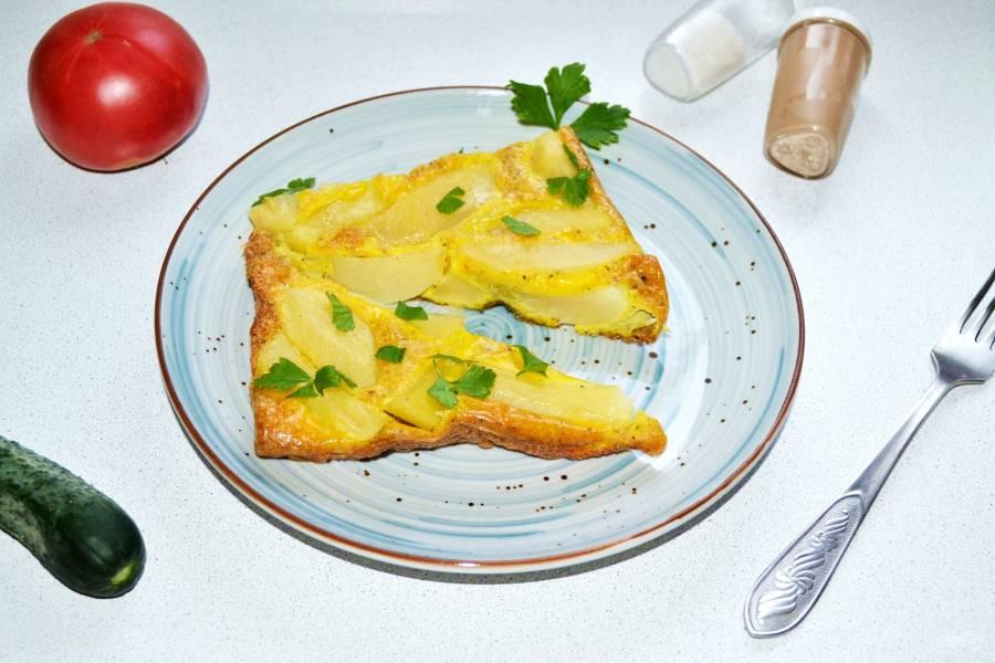 Картошка с яйцом в духовке
