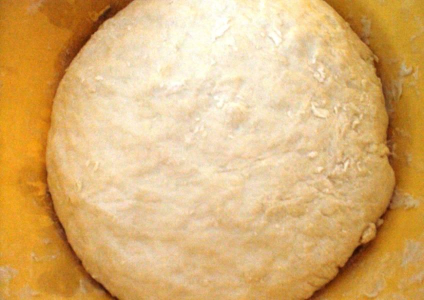 Заместите дрожжевое тесто из воды, соли, масла, сахара, дрожжей и муки. Дайте ему полчаса подняться.