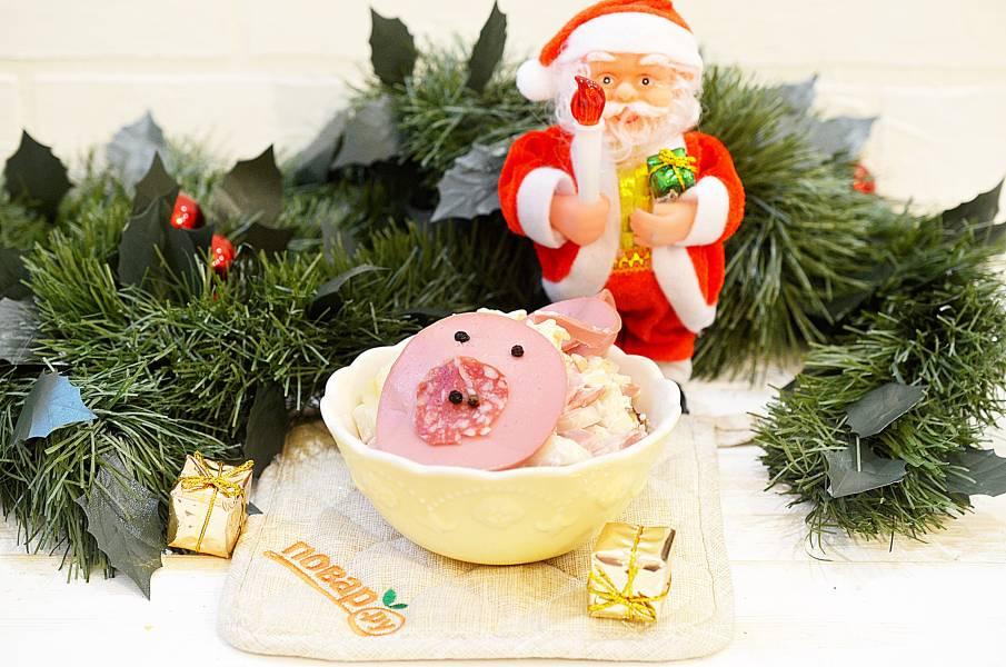 Салат на Новый год Свиньи